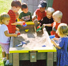 Sand boxes and sand tables