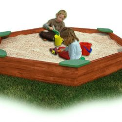 Sandbox, Large with Corner Seats, Cedar