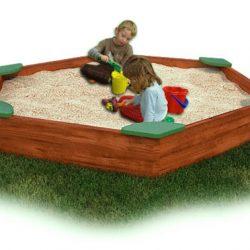Large Sandbox with Corner Seats - Cedar