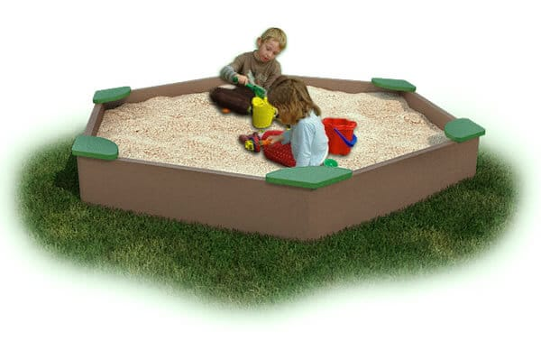 Large Sandbox with Corner Seats - Plastic