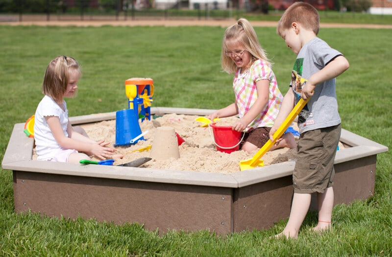 Large Sandbox with Bench Seats