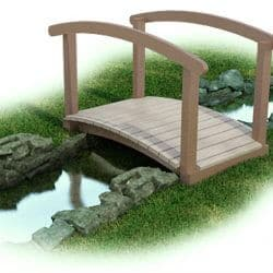 Bridge, Arch, Maintenance-Free Plastic with Rail