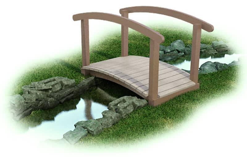 Arch Bridge with Rail - Plastic