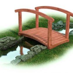 Bridge, Arch, Cedar with Rail