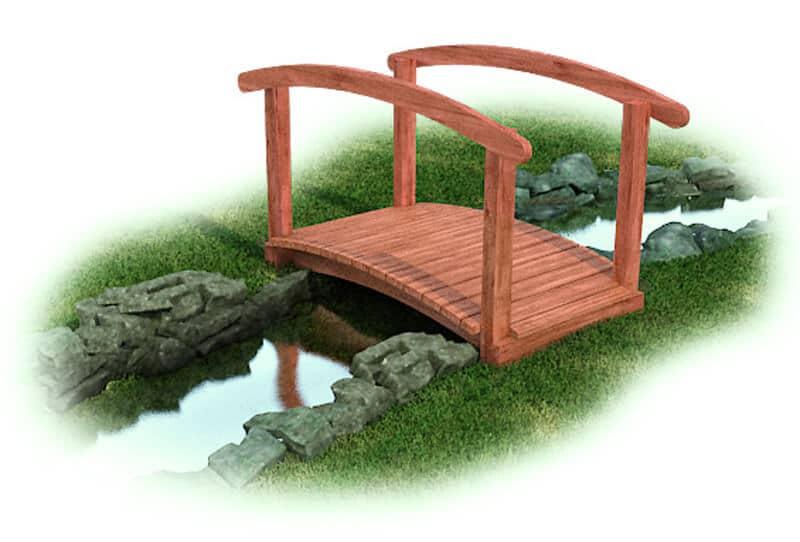 Arch Bridge with Rail - Cedar