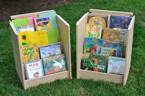 Outdoor Bookcase with Lockable Lid Open