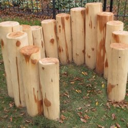 Log Fort with Curved Top