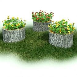 Garden, Stump, Set of 3