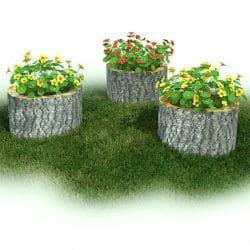 Garden, Stump, Set of 3