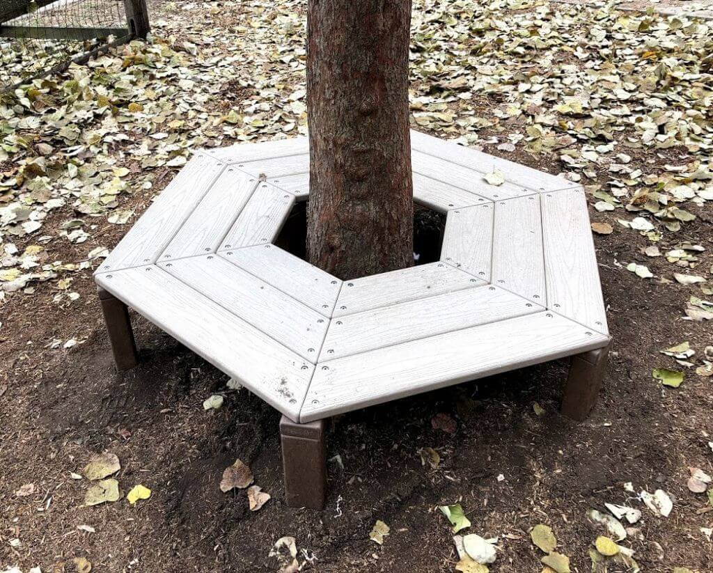 Wrap Around Tree Bench, Maintenance-Free Plastic