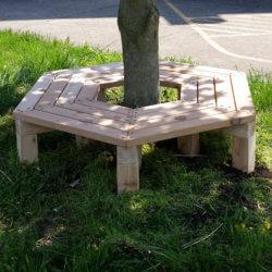 Wrap Around Tree Bench, Cedar