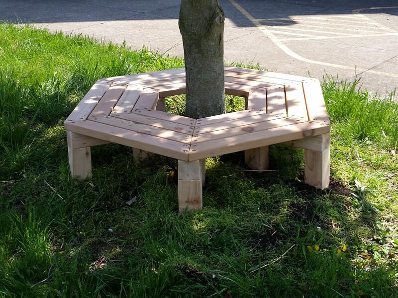 Wrap Around Tree Bench - Cedar