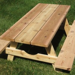 Table, Picnic, Cedar
