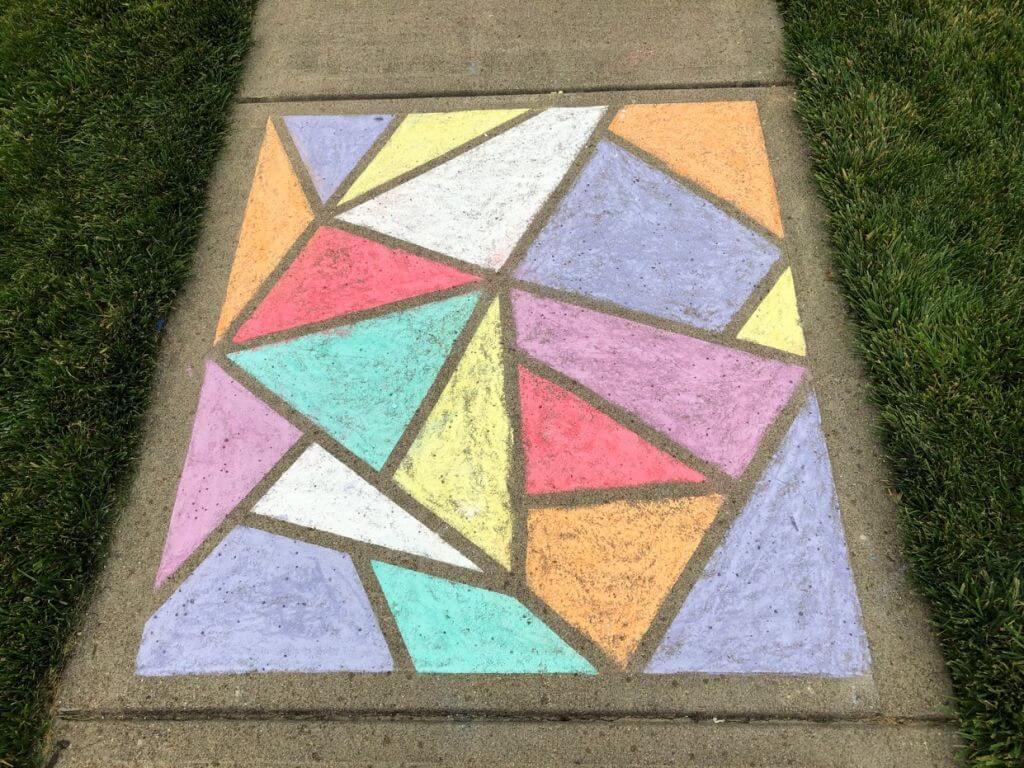 stained glass window chalk art